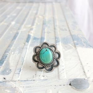 Vintage Turquoise Sterling Tie Tack Pin